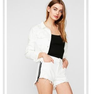 Express jean shorts high waist 18 NWT